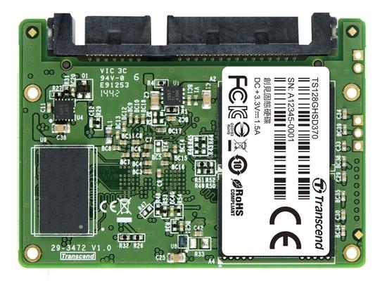 TRANSCEND HSD370 128GB Half-Slim SSD disk SATA III 6Gb/s, MLC, 560MB/s R, 400MB/s W