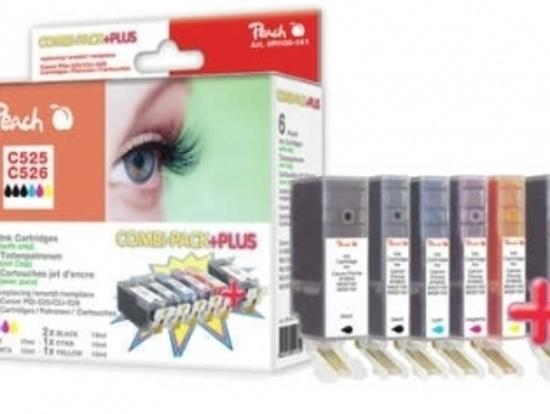 PEACH kompatibilní cartridge Canon PGI-525/CLI-526 MultiPack Plus, 3xBlack,Cyan,Magenta,Yellow, 2x19ml,4x10ml, 314466