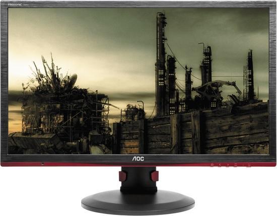 """AOC LCD herní G2460PF 24"""" FreeSync/1920x1080@144Hz/80mil:1/1ms/VGA/HDMI/DP/4xUSB/LED/pivot/repro, G2460PF"""