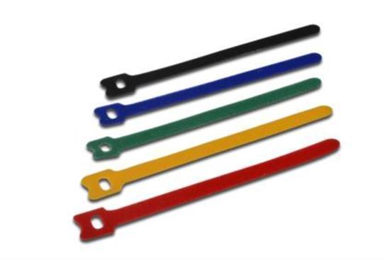 Digitus Sortiment stahovacích pásek, tkaninový hák a upínácí smyčky 150mm x 12mm x 2,6 mm, 10 ks / s