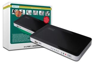 DIGITUS HDMI USB Video přepínač, 4 HDMI, 1 USB vstup => 1 Výstup HDMI pro Win7, Vista, XP, Mac OS X, DS-45310