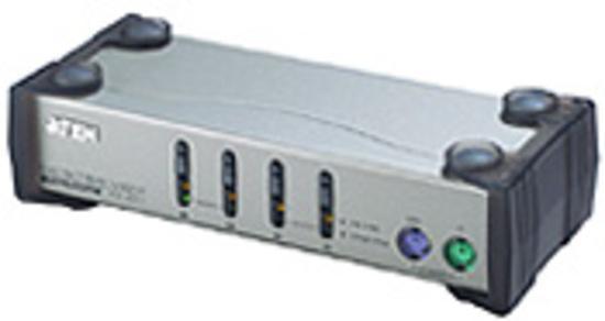ATEN KVM switch CS-84AC PS/2 4PC vč. kabeláže 1,2 a 1,8m, CS84AC-AT