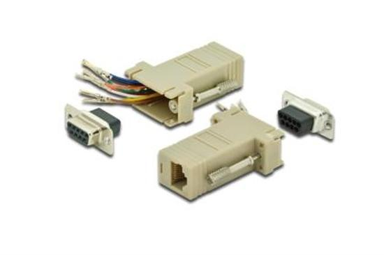 Digitus sériový adaptér, RS 232 DB9, RJ45, Modular, DB9 F, RJ45 F