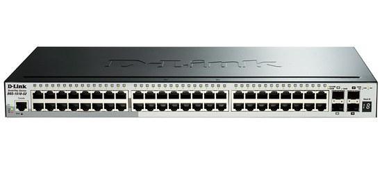D-Link DGS-1510-52X 52-Port Gigabit Stackable Smart Managed Switch including 4 10G SFP+ and 2 SFP ports (smart fans), DGS-1510-52X