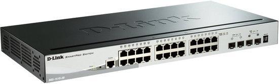 D-Link DGS-1510-28P 28-Port Gigabit Stackable SmartPro PoE Switch including 2 SFP ports and 2 x 10G SFP+ ports- 24 x 1, DGS-1510-28P