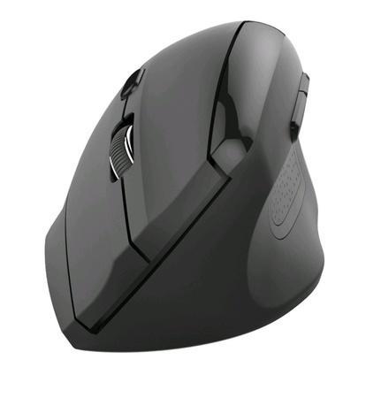 C-TECH myš VEM-08, vertikální, bezdrátová, 6 tlačítek, černá, USB nano receiver, VEM-08