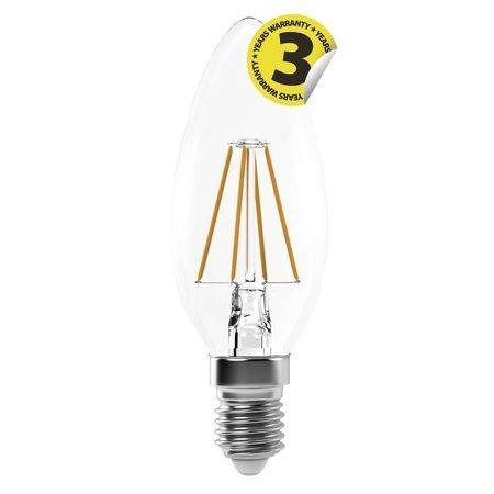 Emos LED žárovka Filament Candle A++ 4W E14 neutrální bílá