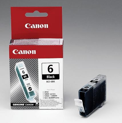 Inkoust Canon Ink BCI-6BK černý, 4705A002