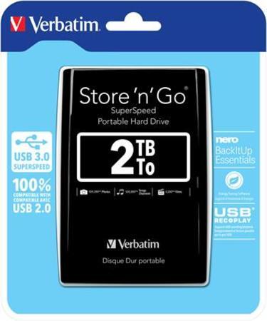 VERBATIM HDD 2TB USB 3.0 BLACK 53177