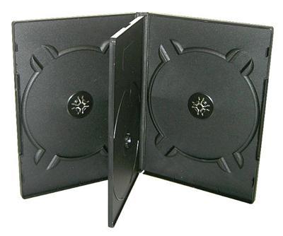 COVER IT Krabička na 4 DVD 19mm černý - karton 100ks, NN136