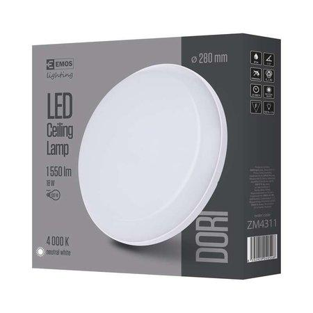 EMOS Lighting LED přisazené svítidlo Dori, kruh 18W neutrální bílá IP54