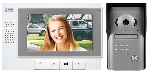 Domácí videotelefon barevný sada RL-03M, bílo-šedý, videotelefon+kamerová jednotka
