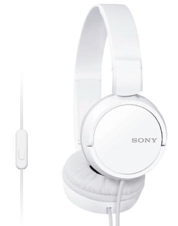 SONY sluchátka MDR-ZX110 AP,bílá