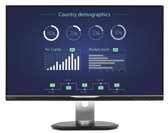 """Philips LCD 258B6QUEB 25""""wide IPS/2560x1440/5ms/20mil:1/350cd/VGA/DVI/HDMI/DP/USB-C/W-LED/repro/pivot, 258B6QUEB/00"""