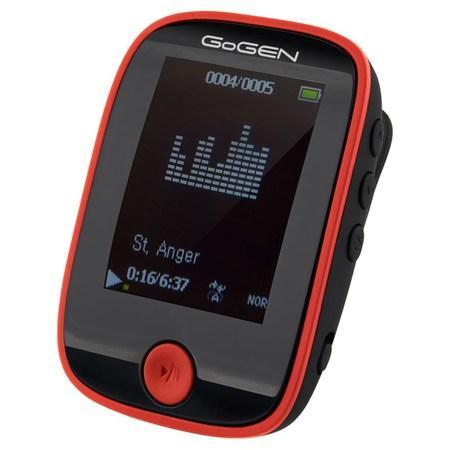"""MP3/MP4 přehrávač GoGEN MXM 421 GB4 BT BR, s 1,7"""" displejem a bluetooth, černý/červený"""