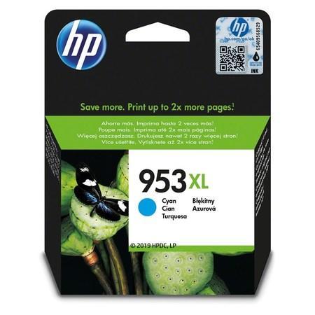 Inkoustová cartridge HP 953XL, do tiskárny OfficeJet Pro 8210, 8700, azurová, 1,6k, HP