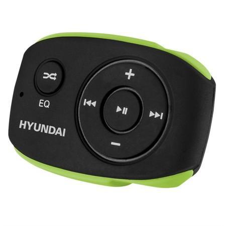 MP3 přehrávač Hyundai MP 312, 4GB, černo/zelená barva