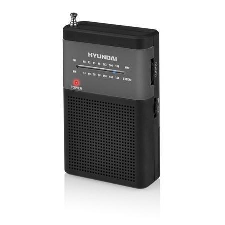 Radiopřijímač Hyundai PPR 310 BS, černý/stříbrný