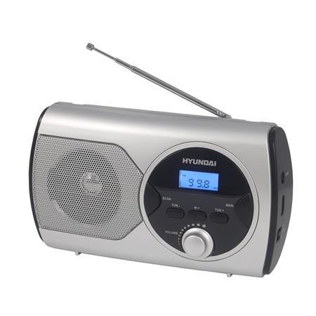 Radiopřijímač Hyundai PR 570PLLS, FM PLL, stříbrný