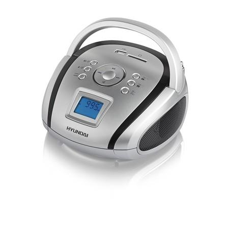 Radiopřijímač Hyundai TR 1088 SU3SB, MP3/USB/SD, stříbrný/černý