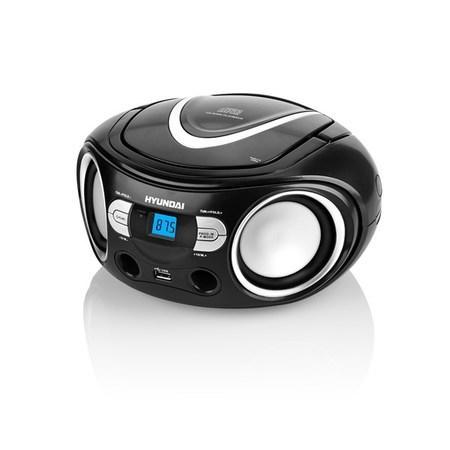 Radiopřijímač Hyundai TRC 533 AU3BS s CD/MP3/USB, černá/stříbrná