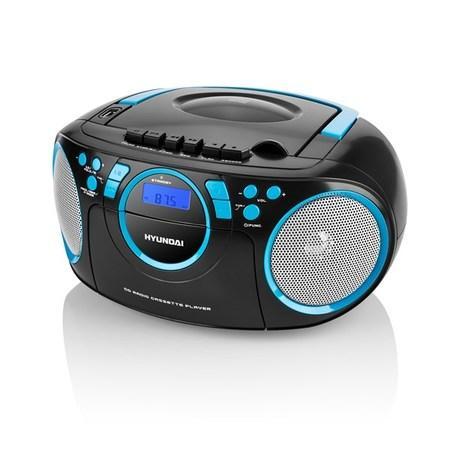 Radiomagnetofon Hyundai TRC 788 AU3BBL s CD/MP3/USB, černá/modrá