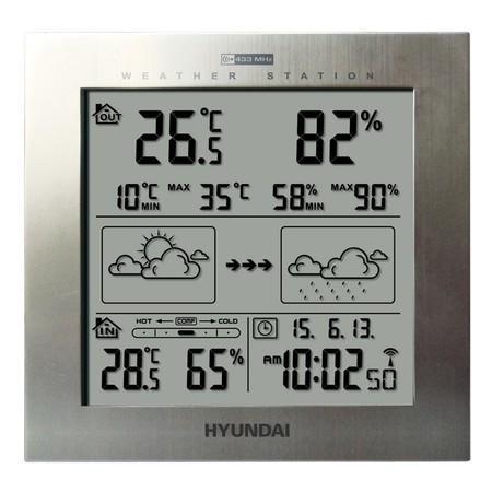 Meteostanice Hyundai WS 2244, stříbrná