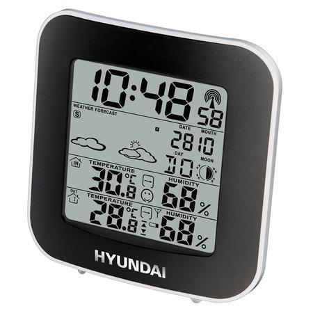 Meteostanice Hyundai WS 8236, černá/stříbrná
