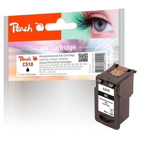 Inkoustová náplň Peach Canon PG-510, 420 stran, kompatibilní - černá, PEA314474