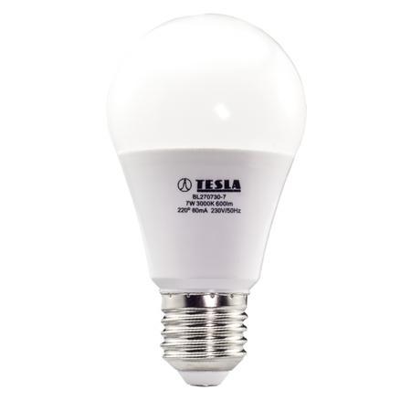 Žárovka LED Tesla klasik, 7W, E27, teplá bílá