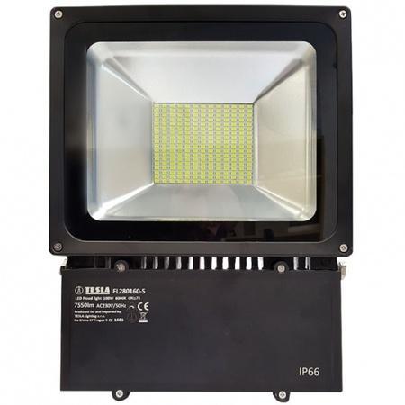 LED reflektor Tesla 100W, studená bílá, 7500lm, vysoce svítívý - černý