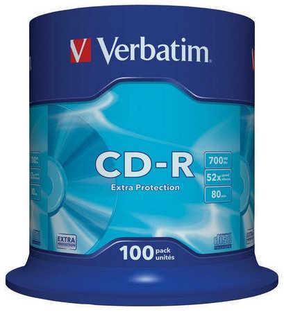 CD-R 700MB, 80min., 52x, DL Extra Protection, Verbatim, 100-cake, bal. 100 ks, 43411