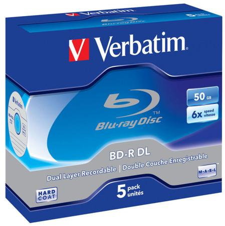 Verbatim BD-R DL 50GB, 6x, jewel, 5ks (43748), VER43748