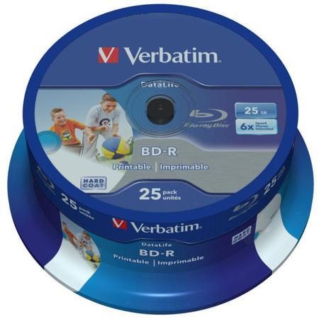 Disk Verbatim BD-R SL 25GB, 6x, 25-cake, 43811