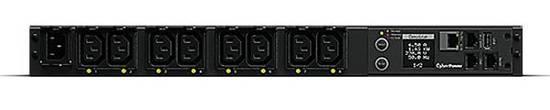CyberPower Rack PDU, Switched, 1U, 10A, (8)C13, IEC C14, PDU41004