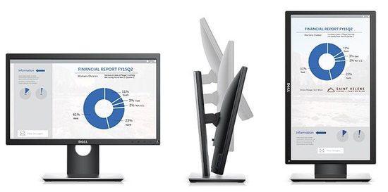 "DELL P2018H WLED LCD 20"" Professional/8ms/1000:1/HDMI/USB/DP/IPS panel/černý, 210-APBK"