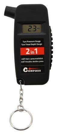 COMPASS Pneuměřič 0-8bar 2in1