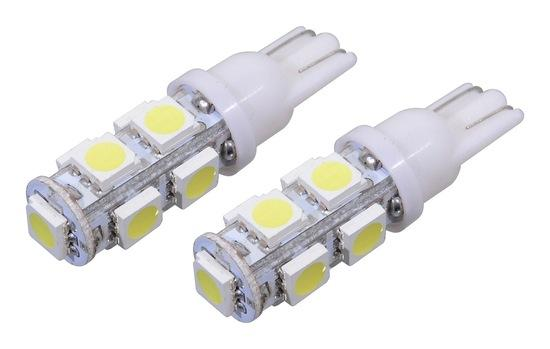 Žárovka 9 SUPER LED 12V T10 bílá 2ks