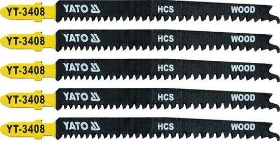 Yato pilový list do přímočaré pily na dřevo - 115mm - typ T 13-8TPI - 5 ks YT-3408
