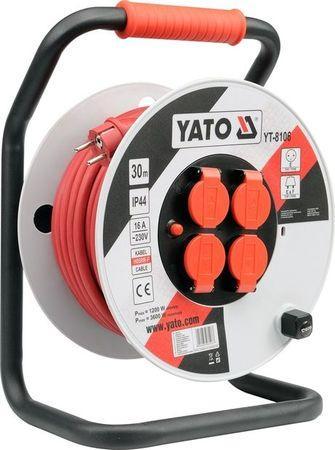 YATO YT-8108 Kabel 50m na cívce 4zásuvky PVC IP44 3G2,5mm 16A