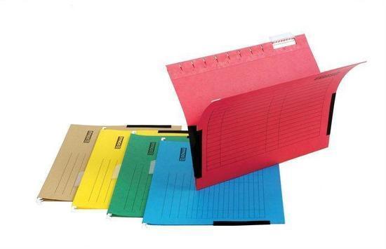 Závěsné desky, s bočnicemi, zelené, karton, A4, DONAU, bal. 25 ks, 7420905-06