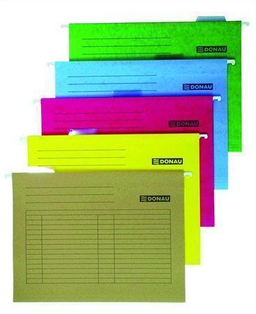 Závěsné desky, žluté, karton, A4, DONAU, bal. 25 ks, 7410905-11