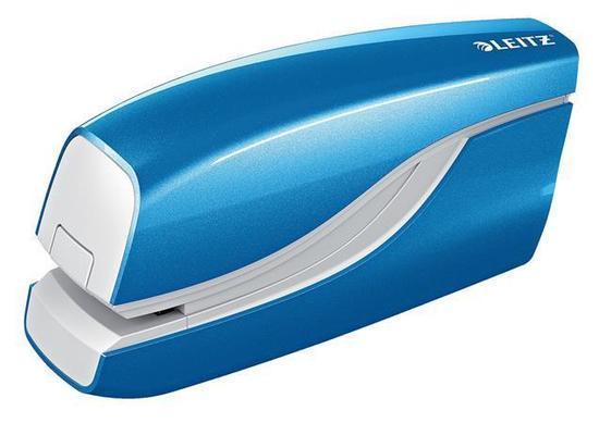 "Sešívačka ""Wow"", světle modrá, elektrická, No.10, 10 listů, LEITZ, 55661036"