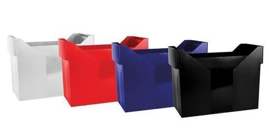 Zásobník na závěsné desky, tmavě modrý, plast, DONAU, 7421001-18