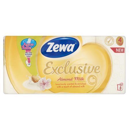 """Toaletní papír """"Exclusive"""", 4vrstvý, 8 rolí, almond milk, ZEWA, bal. 8 ks"""