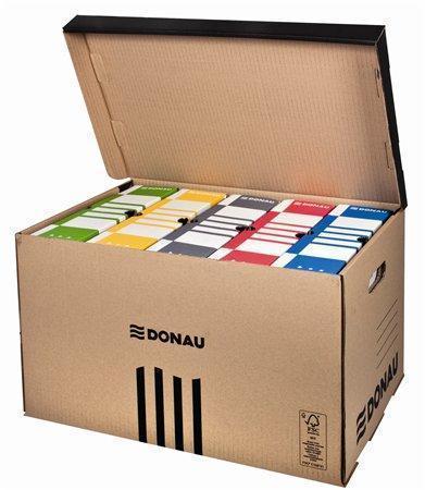 Donau archivační krabice s výklopným víkem 55,5 x 37 x 31,5 cm hnědá
