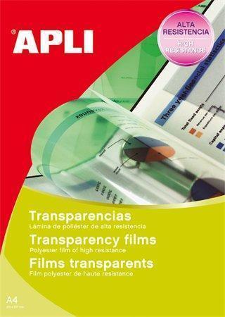 Fólie pro zpětné projektory, pro inkoustové tiskárny, A4, APLI, bal. 20 ks, 01269