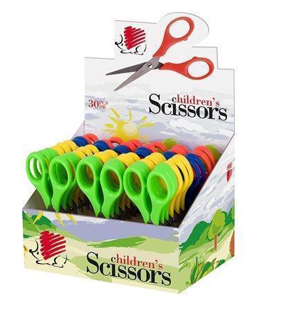 Nůžky dětské, 13,5 cm, ICO, mix barev, box 30 ks