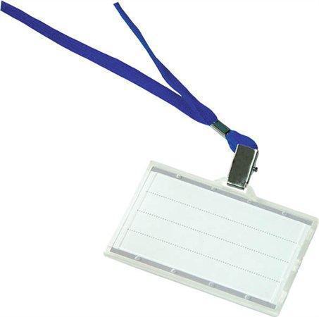 Visačka s modrým závěsem na krk, 88x50, DONAU, box 50 ks, 8347001PL-10