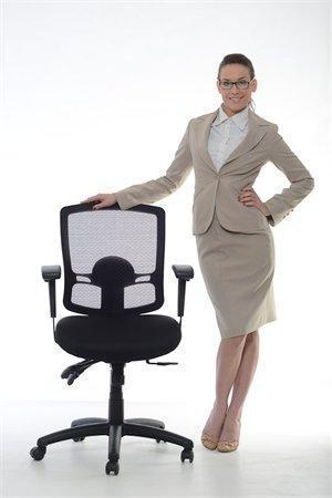 """Ergonomická kancelářská židle, síť.textilie, síť.opěrák, chromovaná základna,MaYAH,""""Creative"""",černá"""